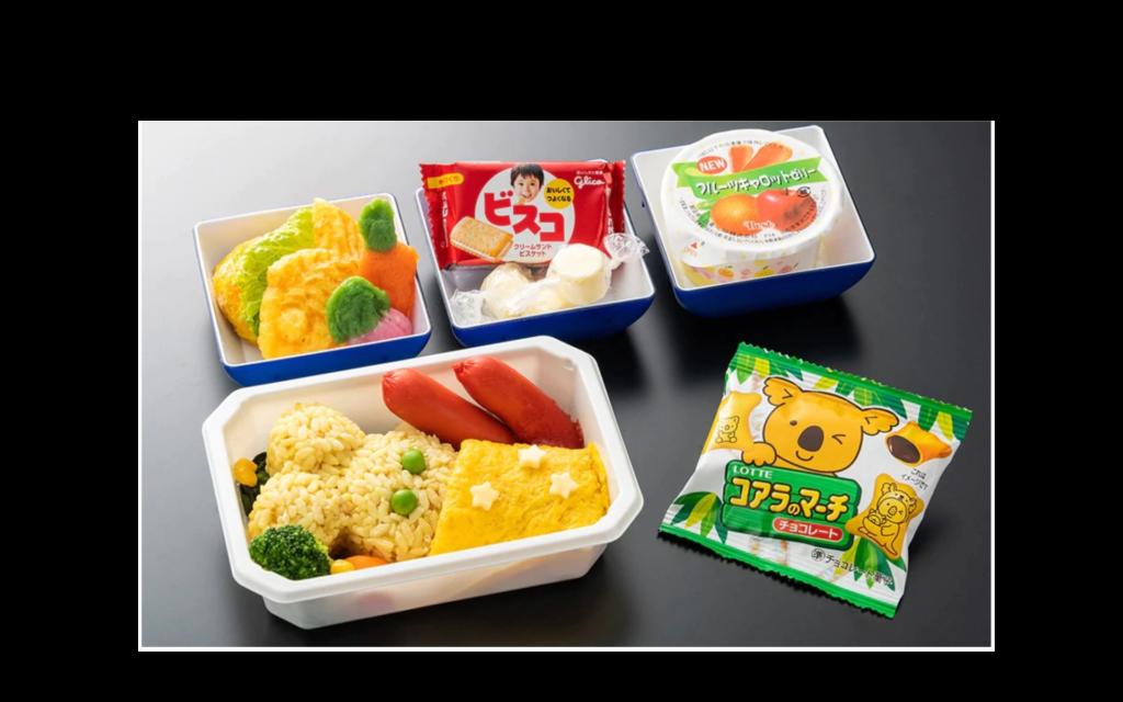 子供用の機内食(チャイルドミール)